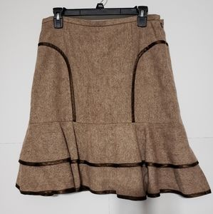 INTUITIONS WOMENS WOOL BLEND PLEATED SKIRT SIZE 8